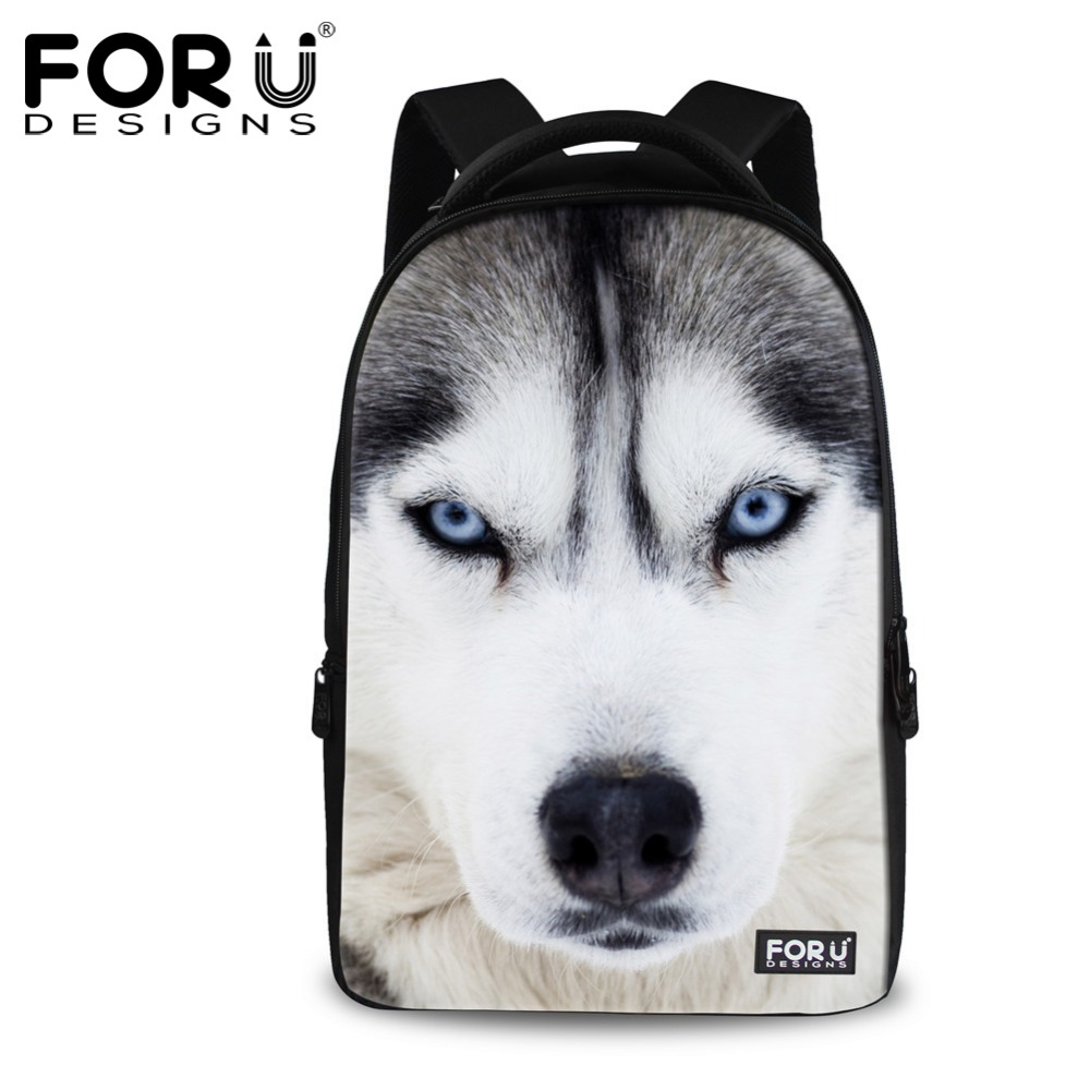 FORUDESIGNS Men's Fashion Backpack Cool Animal Wolf Tiger Printing Backpack For Men Teenager Boys Large Laptop Bagpack Mochila forudesigns 3d animal printing backpacks for men crazy horse dinosaur school backpack for teenager boys man kids travel bagpack