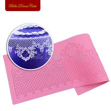 Castle Decoration Cake Lace Mat Crown Retro Lace Mould Silicone Sugar Lace Pad Cake Brim Sisustus Muotti DIY Tool LFM-29