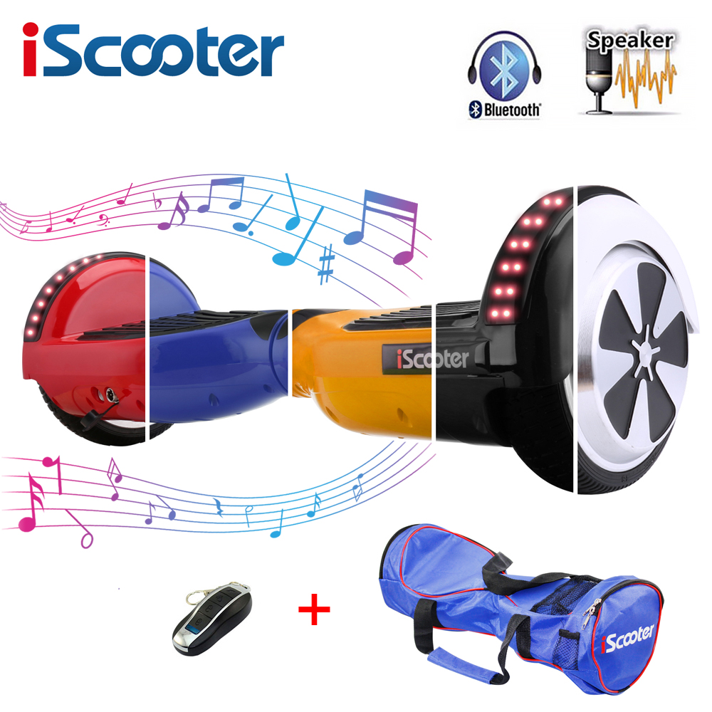 iScooter Hoverboards 6.5 inch Self Balance Kick Gyroscope Electric Skateboard Oxboard Electric Hoverboard Two Wheels Hover board app controls hoverboard new upgrade two wheels hover board 6 5 inch mini safety smart balance electric scooter skateboard
