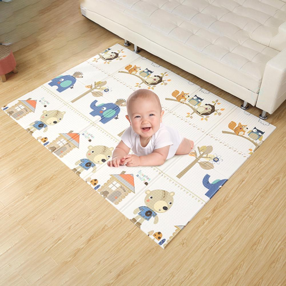 Bébé pliable pique-nique tapis enfants antidérapant jouer tapis 75x40x9 CM Rectangle nouveau-né infantile ramper couverture bébé fournitures