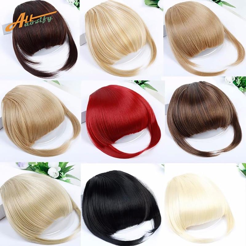 Haarteile Yelo Malaysische Mode Menschliches Clip Haar Extensions Kurze Vordere Pony Fransen Remy Haar 6 Farbe Stil Ein Stück Freies Verschiffen