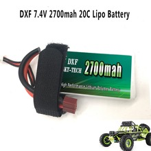 2PCS DXF Good Quality Rc Lipo Battery 2S 7.4V 2700mah 20C Max 30C for Wltoys 12428 12423 1:12 CoolRC GC001 Spare parts