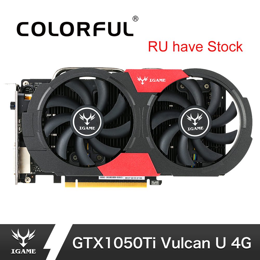 Colorful Nvidia Gtx 1050ti Graphics Card Geforce Igame Gtx1050 Ti Gaming Video Cards 4gb Gddr5 128bit Gpu For Pc Placa De Video Removing Obstruction