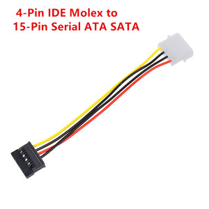 Image 5 - Computer Cable 4/15 Pin IDE Power Splitter 1 Male To 2 Female IDE/SATA  Power Cable Y Splitter Hard Drive Power Supply Cable