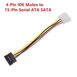 Image 5 - Máy tính Cáp 4/15 Pin IDE Điện Splitter 1 Nam Để 2 Nữ IDE/SATA Cáp Điện Y Splitter Cứng cung Cấp Điện ổ đĩa Cáp