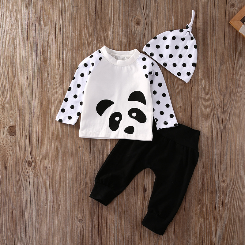 096f281868362 ABWE Best Sale 2018 Newborn Baby Boys Girls Clothes Tops T Shirt Pants  Leggings Hat Outfits 3PCS newborn baby suit children cl-in Clothing Sets  from Mother ...