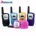 2 pcs retevis rt388 crianças mini walkie talkie rádio crianças 0.5 w pmr 8CH/22CH Display LCD VOX Lanterna 2 Maneira de Rádio Amador de Brinquedo de Presente