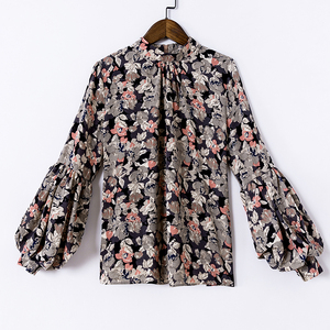 Image 5 - Fashion woman blouses 2020 print chiffon blouse shirt womens tops and blouses long sleeve women shirts blusas femininas 2078 50