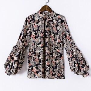 Image 5 - Moda kobieta bluzki 2020 drukuj szyfonowa bluzka koszula damskie topy i bluzki z długim rękawem koszule damskie blusas femininas 2078 50