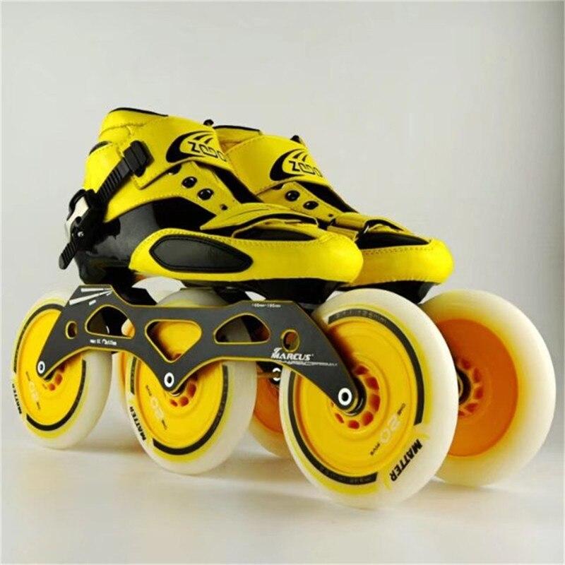 Rollschuhe, Skateboards Und Roller Skate-schuhe Ehrlich Carbon Fiber Fiberglas Geschwindigkeit Inline Skates 3*125 Rad Kind Der Erwachsene Wettbewerb Street Racing Sport Schuhe Training Patines F033