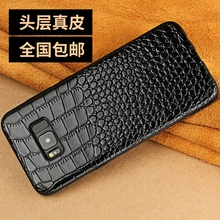 6 colors Genuine leather cow skin + Soft TPU back cover for Samsung Galaxy Note 8 Note8 Real cowhide crocodile grain phone case