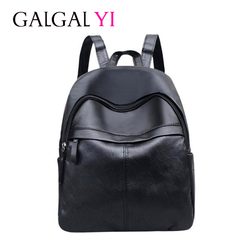 GALGALYI 2018 Fashion Travel Light Portable backpack female High Quality PU Leather Back ...