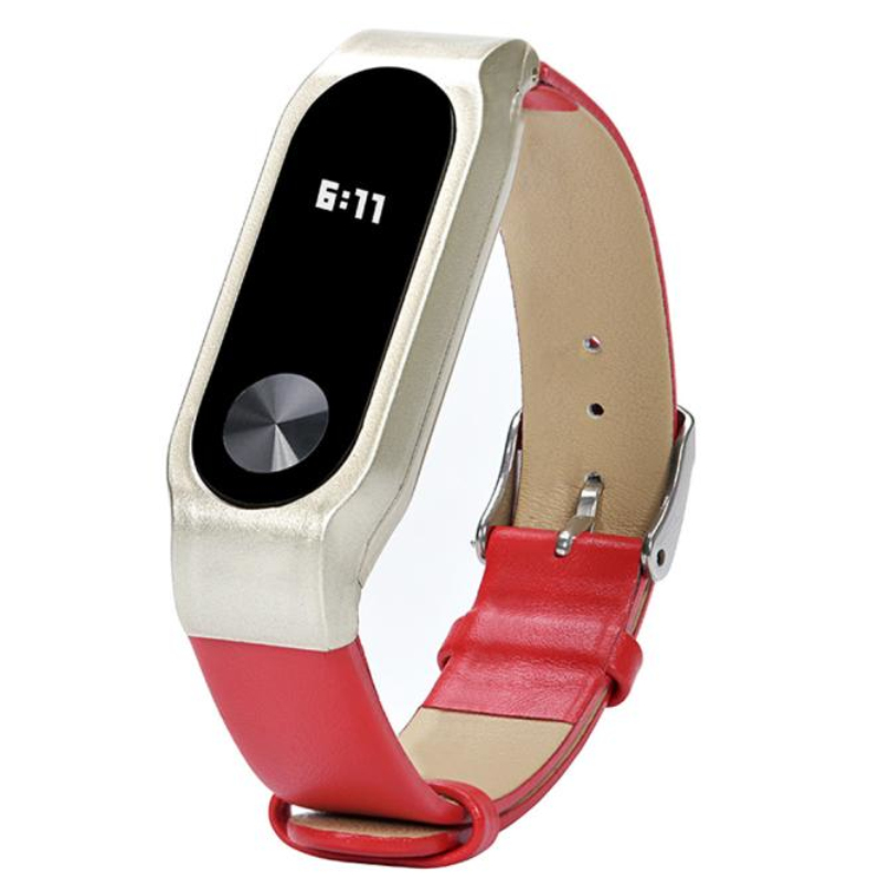 New Arrivel Replacement Luxury Genuine Leather Band Strap Bracelet For Xiaomi Mi Band 2 wholesaleF3