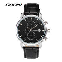 Sinobi Male Military Quartz Wrist Watch Brown Watchband Rose Gold Case Waterproof Mens Brand Gents Casual