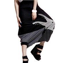 Летние Новые свободные женские хип-хоп штаны большого размера, шаровары с шаговым швом