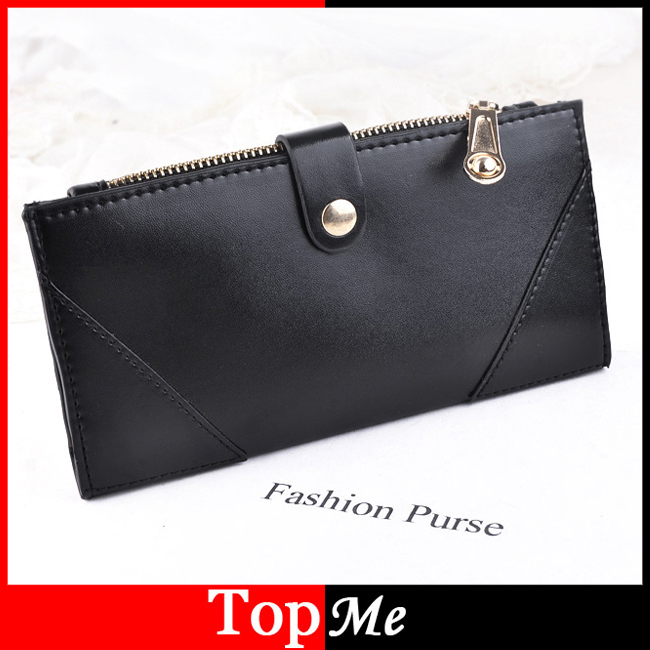 Brand Women Wallets Cards ID Holder PU Leather Lady Handbag Clutch Envelope Money Bag Zipper Coin Purse Female Long Wallet Burse