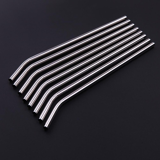 Reusable Straw Pipette Suction Metal Stainless Steel Drinking Straws Pipe Straight Bent Tube Events Party Bar Accessories