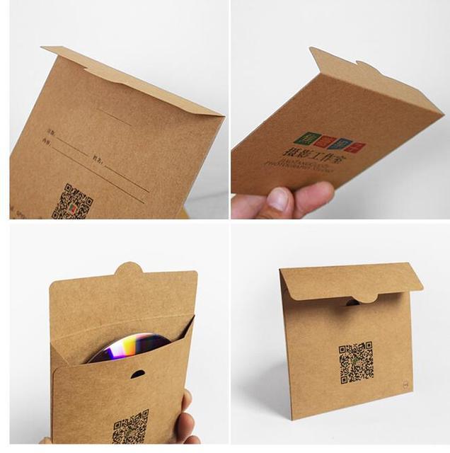 500pcs Lot Custom Make Printed Kraft Paper Cardboard Cd Dvd Jewelry