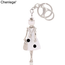 chenlege new fashion lovely women keychain lady car key chain ring jewelry bag charm car pendant keyring accessories wholesale(China)