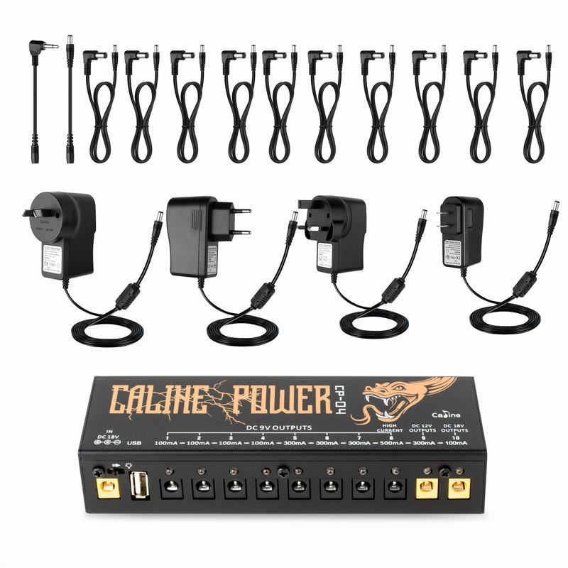 Caline Guitar Effect Pedals Power supply USB 10 Isolated Output 9V 12V 18V Voltage Short Circuit Overcurrent Protection in Guitar Parts Accessories from Sports Entertainment