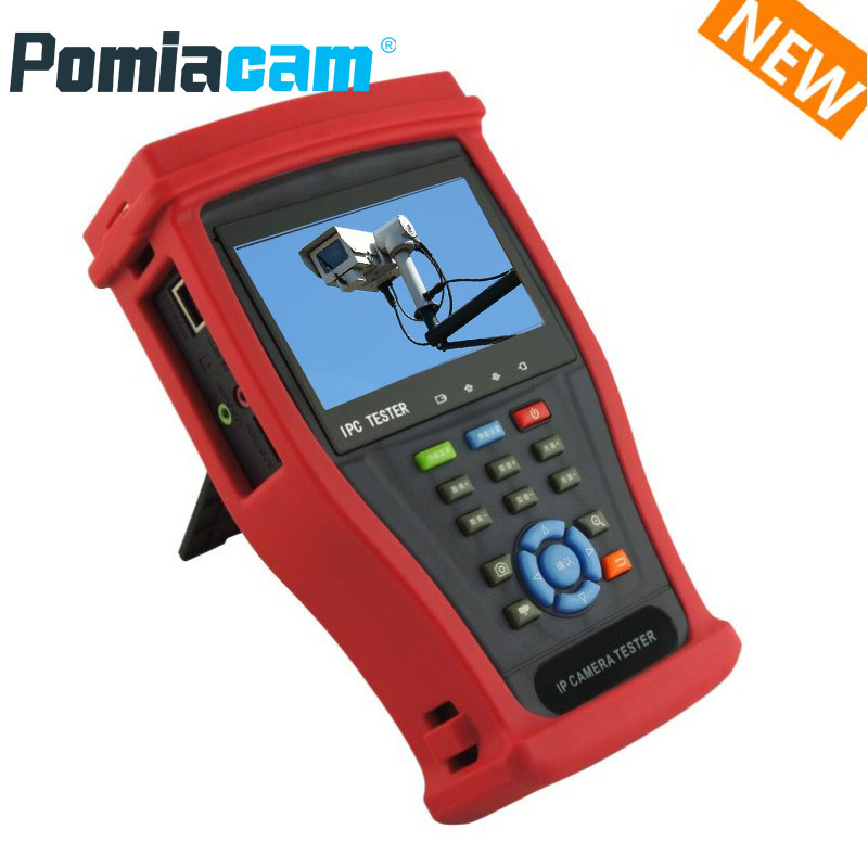 IPC4300 Plus IP Camera Tester CCTV Tester Monitor 8MP TVI CVI 5MP AHD SDI H.265 4K with Digital multimeter,Cable tracer
