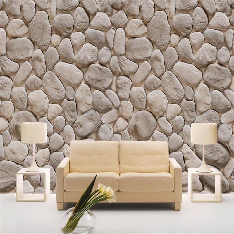 US $9.0 40% di SCONTO|Beibehang Grande carta da parati personalizzata  metope archaize di muratura di pietra muro di 3d seduta della camera da  letto le ...