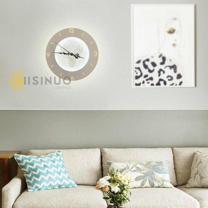 Elegant LED Wandleuchten Uhr Für Wohnzimmer Schlafzimmer 20 Watt Wand Wandleuchte Weiße  Farbe Vier Muster AC85 265V LED Wandleuchte Innen ...
