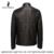 Jóvenes Hombres de la chaqueta de cuero, Negro, Cuero Genuino, Piel de Oveja, motocicleta abrigo de hombre, chaqueta de Cuero de los hombres, chaqueta de motorista