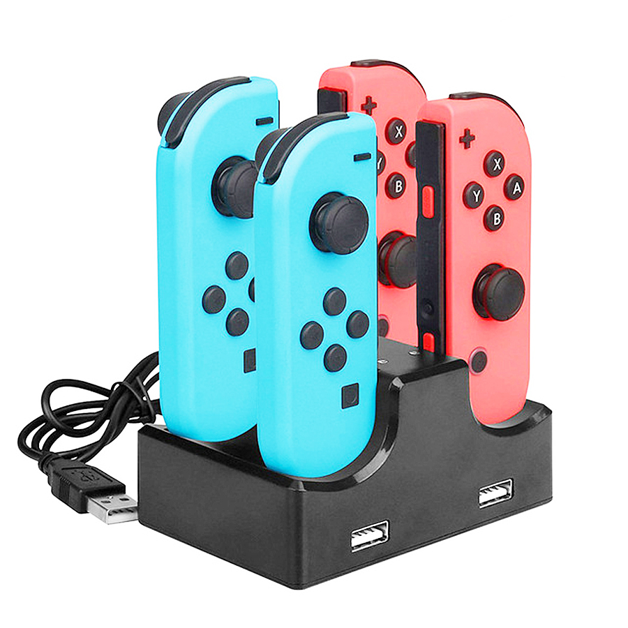 9 in 1 Kit Big Protective Case Storage Bag for Nintend Switch Console Charger & Handgrips& Steering Wheels& Crystal Shell& Stand 4