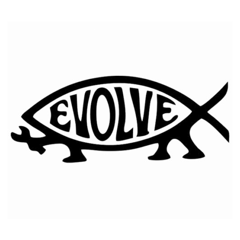 HotMeiNi Evolve Fish Evolution atheist Jesus Darwin Sticker decal window car laptop