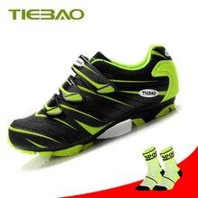 Tiebao  Professional Green Cycling Shoes Men sneakers Women Riding Bicycle Mtb Self-Locking Mountain Bike