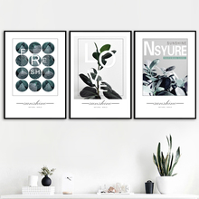 Canvas Art Print Green Plant Leaves Quotes Nordic Posters And Prints Wall Painting Pictures For Living Room Home