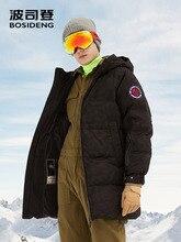 BOSIDENG nowy 90% biały puch gęsi kurtka z kapturem puch gęsi płaszcz dla mężczyzn zagęścić światła znosić wodoodporna wysokiej jakości B80142145