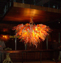 лучшая цена Free Shipping Flower Low Ceiling Hand Blown Glass Chandelier