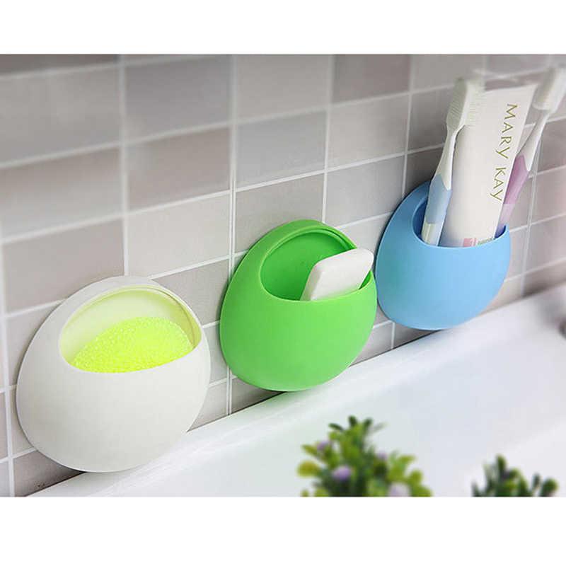 Szczoteczka do zębów uchwyt pojemnik akcesoria do domu uchwyt ścienny do łazienki uchwyt na silne przyssawki organizator różowy niebieski biały zielony