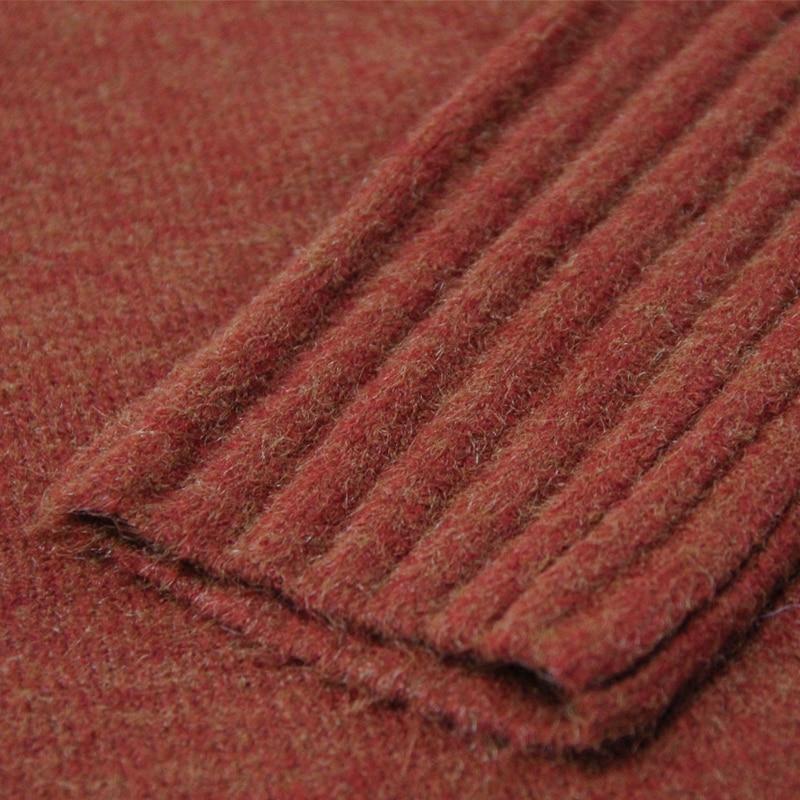 Nouveau Vert Manches Tricot B9276 Hiver Vintage Pulls Chandails Tricots En Femmes Roulé corail Long 2018 Keer Automne Feminina À Rouge Col Longues Boho Lâche OwvaXq1R