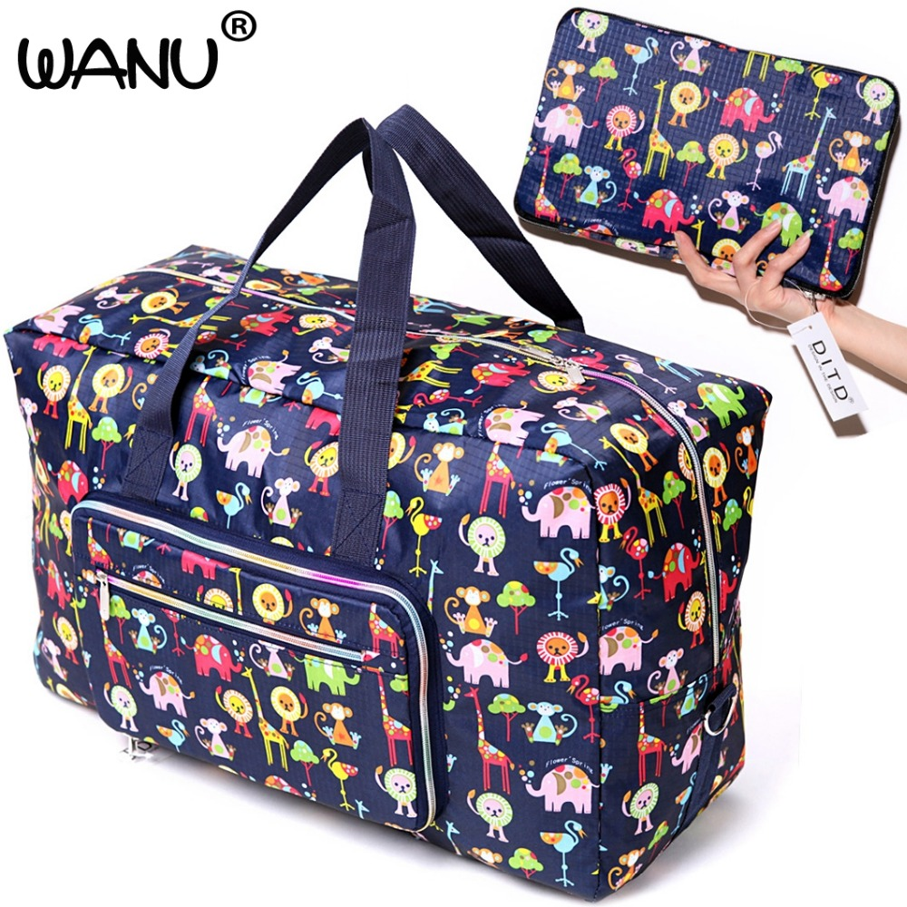 New Waterproof Nylon Foldable Home Travel Package Popular Bag Big Size Folding Carry-on Duffle bag Foldable Pouch Women Bags все цены