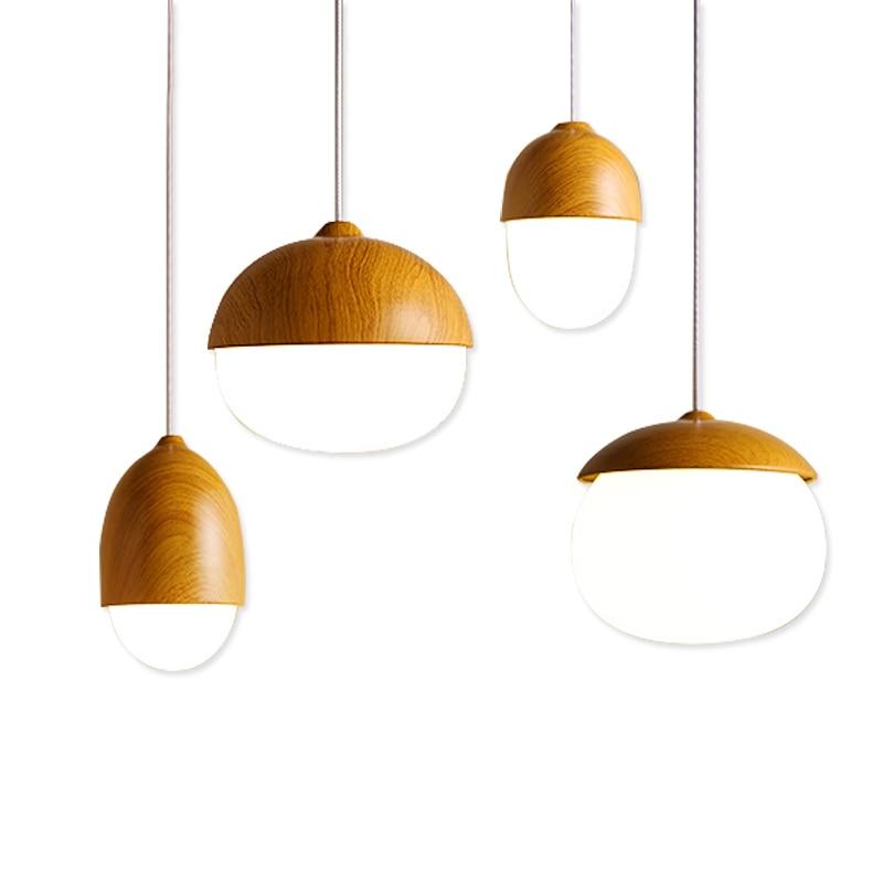 Modern Art Glass Ball 4 Styles Wood Pendant Light Led Lights For Living Room E27 Lamp Shade Designer Restaurant Fixtures domus parati обои domus parati ornamenta 95308
