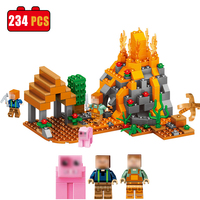 234PCS My World City Building Blocks Bricks Model Set Minecrafted Figures Compatible With Legoed DIY Toys