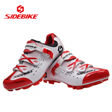 SIDEBIKE Professional Mountain Bike Racing Self Locking Shoes Lightweight Bicycle Cycling MTB Shoes Outdoor Sports Athlete