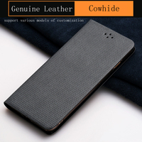 Luxury Genuine Leather flip Case For iPhone 6S Plus case Diamond pattern soft silicone Inner shell phone flip cover