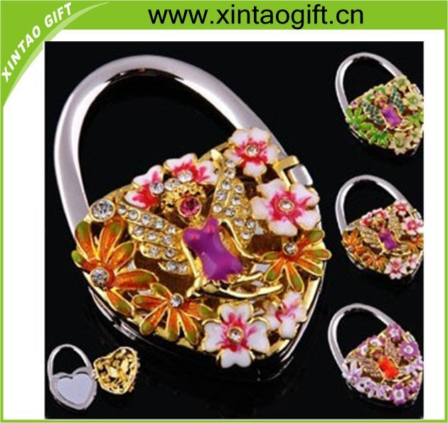 fashion mirror flower shape Hand bag Hanger,Purse hook,purse hanger holder free shipping Excellent Quality