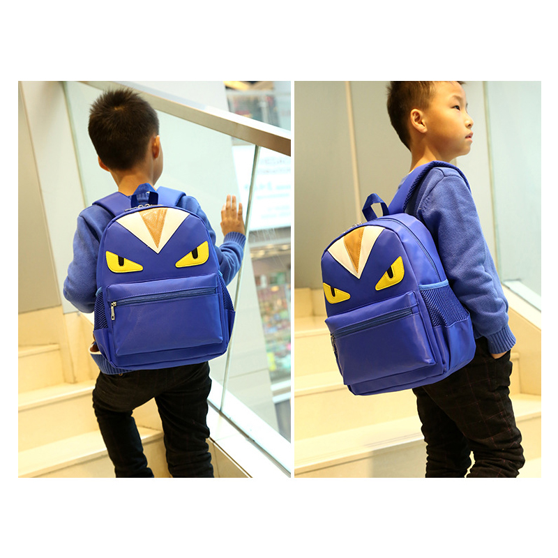 e7861f70c03c High capacity Durable Waterproof School Bags Cartoon Monster Backpacks for 3  7 Years Old Character Child Bags for Schoolchild -in School Bags from  Luggage ...