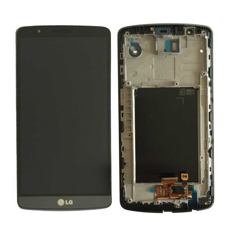 100% Original For LG G3 LCD D850 D851 D855 LCD Display with Touch Screen Digitizer Assembly With Frame free shipping