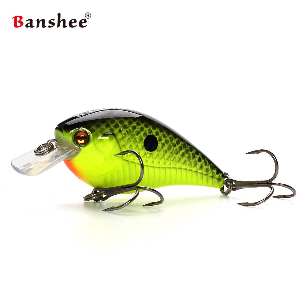 Banshee 60mm 12g Blitz Crank Floating Fishing Lure VC03 Rattle Sound Wobbler  Square Bill Artificial Medium Diving Crankbaits крот истории