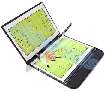 soccer Coach Match Training Tactical Plate Coaching Board Kits Magnetic Chess Pieces Foldable PU Cover