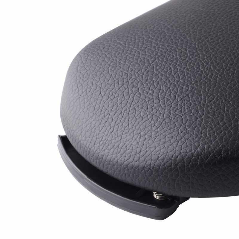 SPEEDWOW voiture Console centrale bras repose couvercle en cuir polyuréthane accoudoir couvercle loquet pour VW Jetta Golf 4 MK4 Bora Passat B5 coccinelle Polo 1 Pc