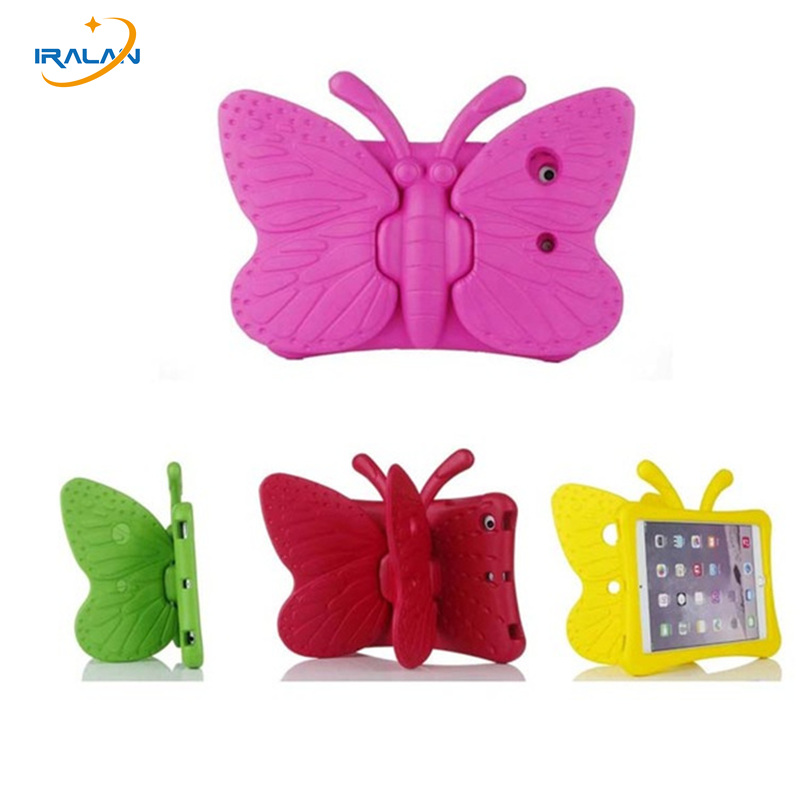 Cartoon 3D Butterfly Table Cover Stand for apple ipad Mini 1 2 3 EVA Soft Safe Kids Case Shockproof for ipad Mini 7.9 inch+pen