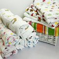 120x120cm Muslin Baby Swaddling Blankets Bedding Newborn Infant Cotton Swaddle Towel