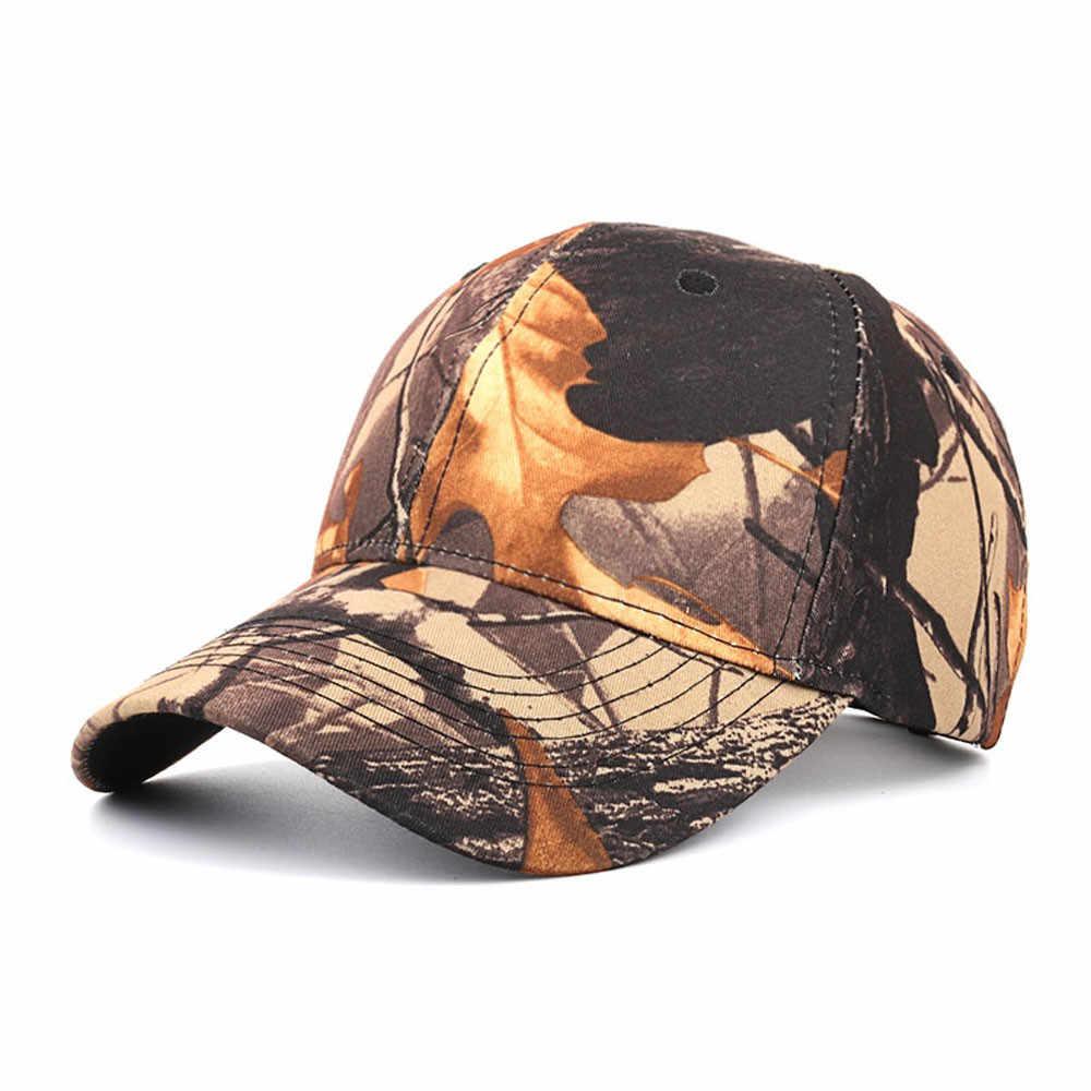 De las mujeres de la moda Casual hombres táctico camuflaje al aire libre deportes gorra de béisbol sombrero gorro hombre verano